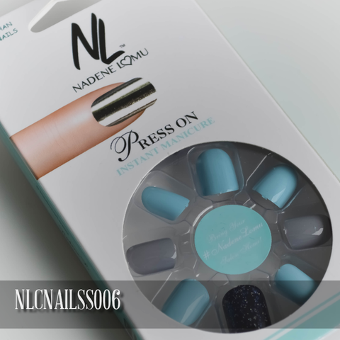 NLC Press On Manicure Mixed Design Style SS006