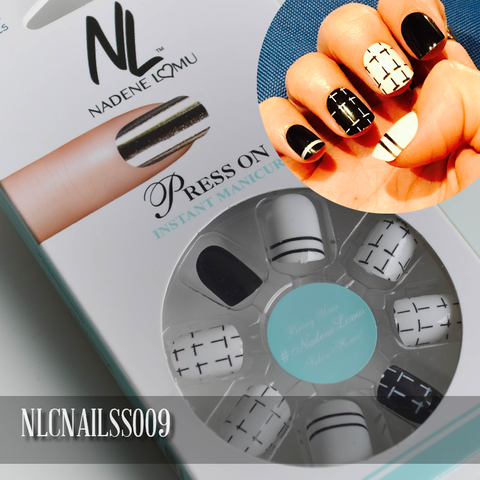 NLC Press On Manicure Mixed Design Style SS009