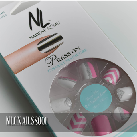 NLC Press On Manicure Mixed Design Style SS001