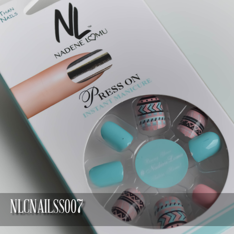 NLC Press On Manicure Mixed Design Style SS007