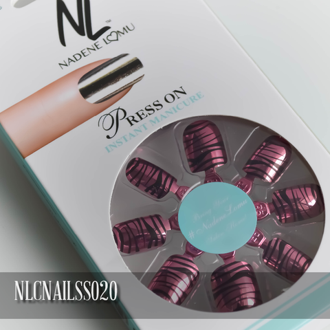 NLC Press On Manicure Single Design Style SS020