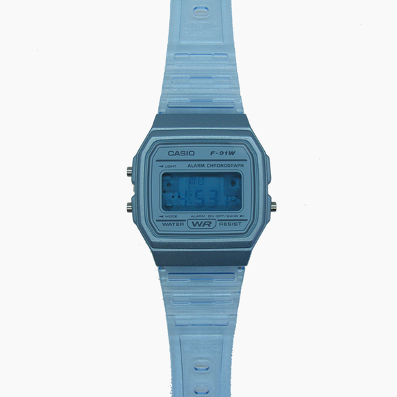 Modified Casio Watch (Blue/Transparent)