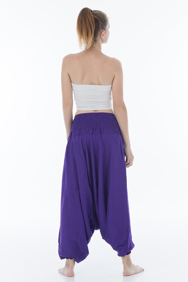 Solid Harem Jumpsuit Deep Purple