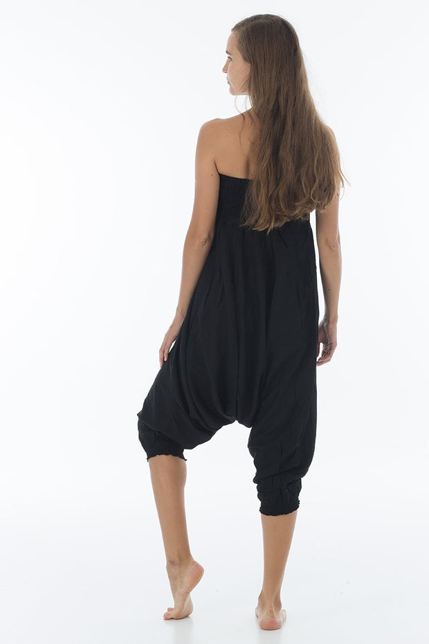 Solid Harem Jumpsuit Jet Black