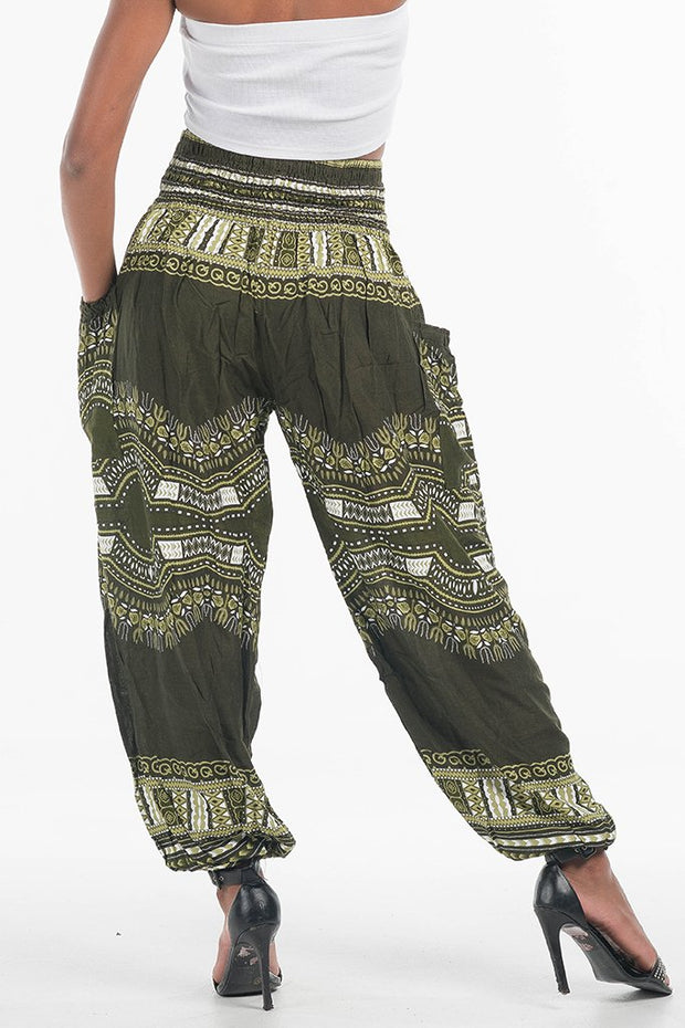 High Waisted African Dashiki Harem Pants