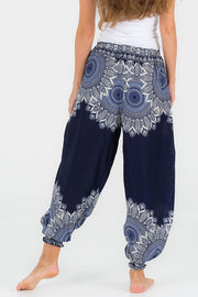 Low Waisted Feather Mandala Pants