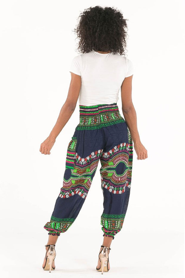 High Waisted African Dashiki Pants