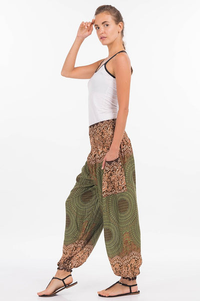 High Waisted Yoga Mandala Harem Pants Harem Garden