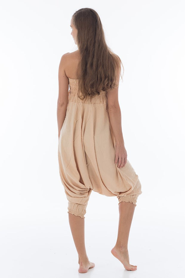 Solid Harem Jumpsuit Soft Cream