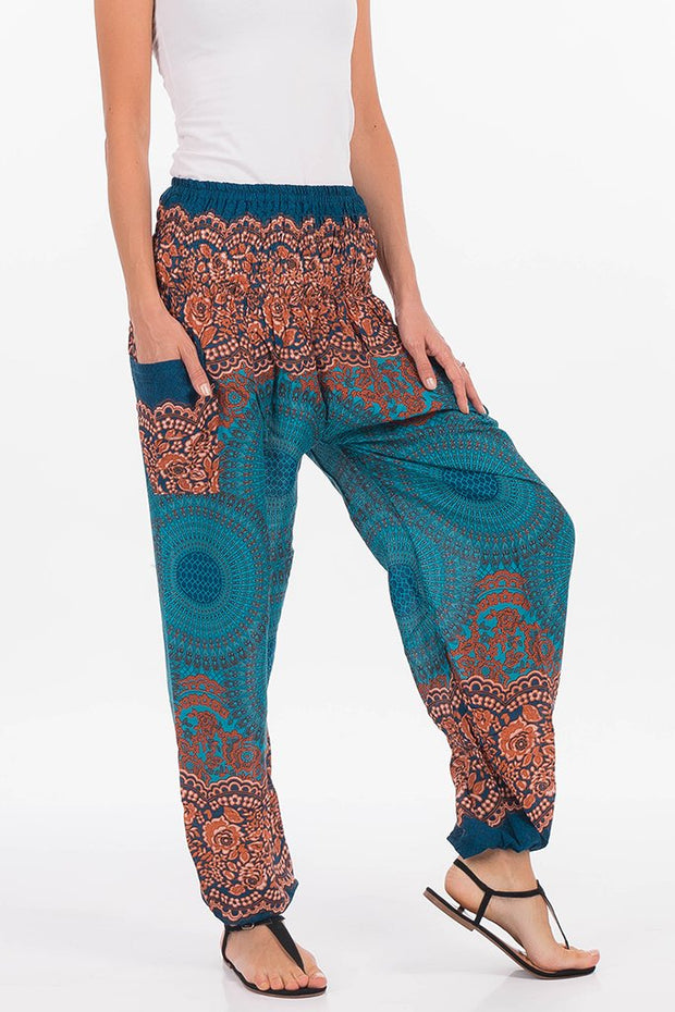 Mandala High Waisted Harem Pants