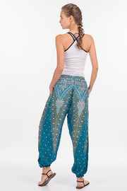 Low Waisted Peacock Feather Pants