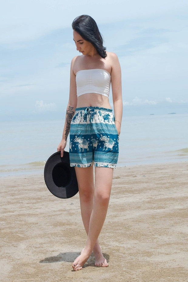 Harem Garden - Boho Elephant Shorts - Super comfortable Thai Shorts in the US