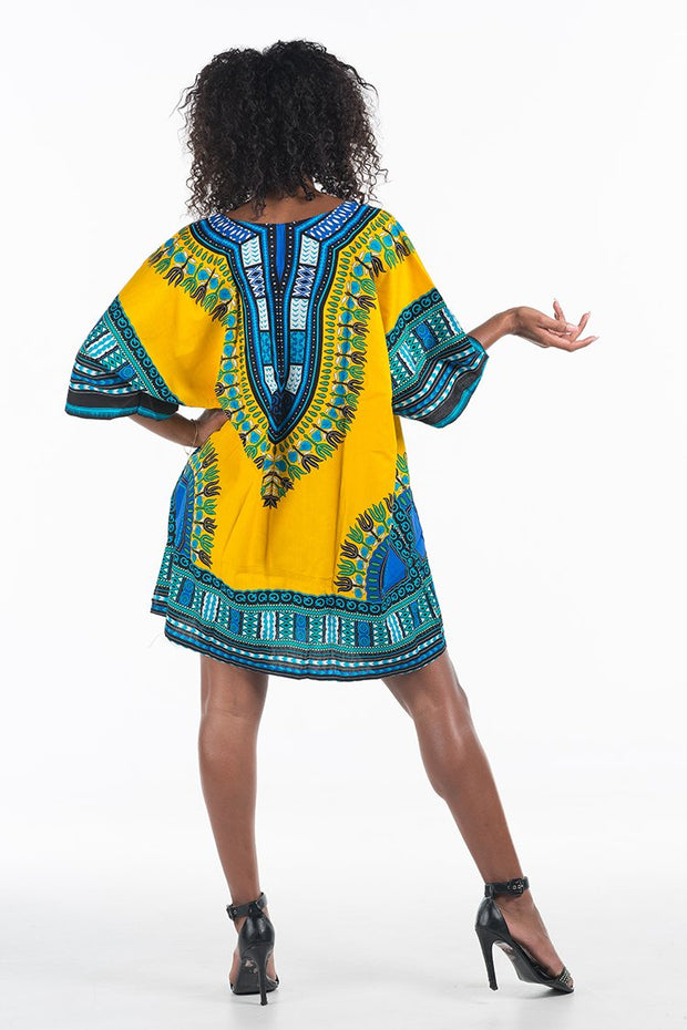 African Dashiki Shirt Yellow
