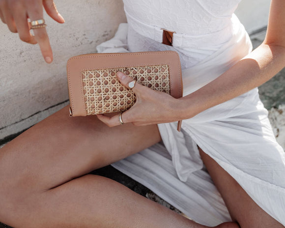 Heather Wallet - Nude