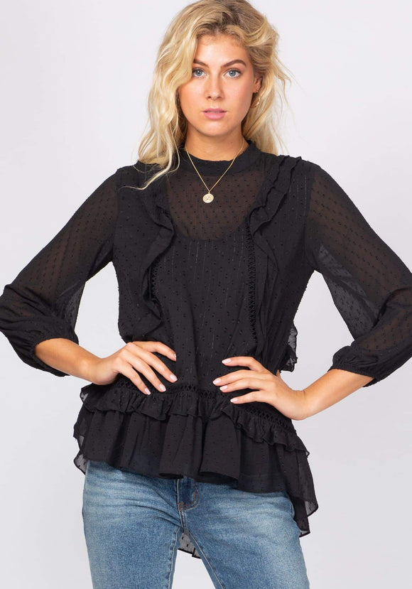 Dust Storm Blouse - Black