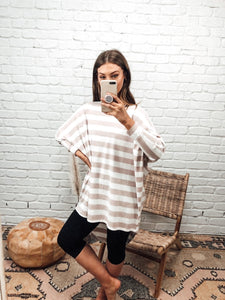Batwing Basic - Blush Stripe