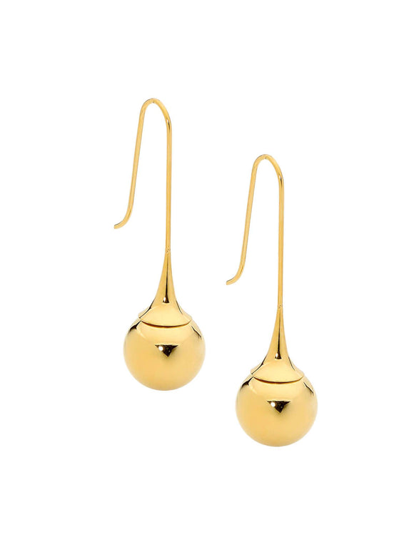 Ball Drop Earrings - yellow gold