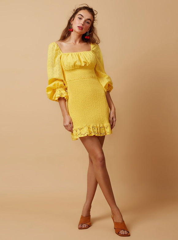 Honeysuckle Dress - lemon