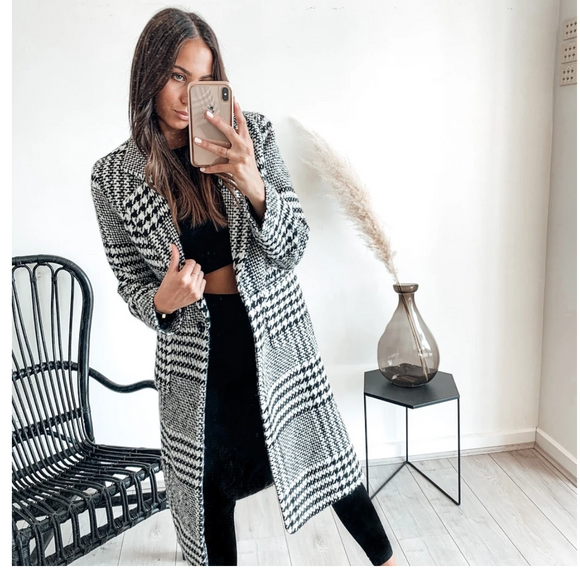 Madison Check Coat
