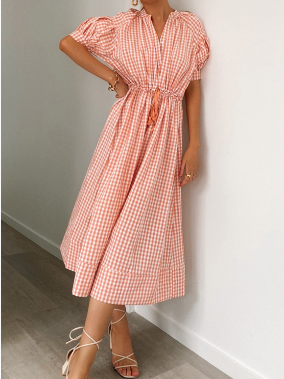 Amalie Gingham Dress