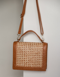 Heather Top Handle Bag - Tan