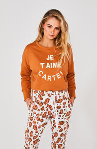 Je T'aime Sweater- rust