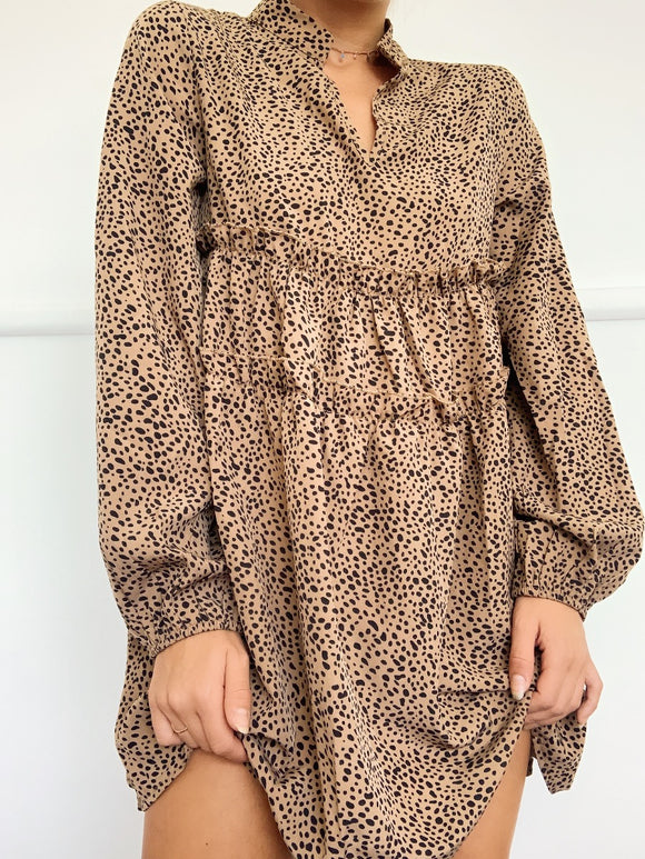 Avery Dress - animal  print