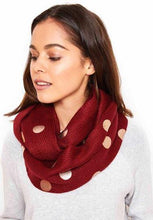 Multi Foil Print Snood Scarf