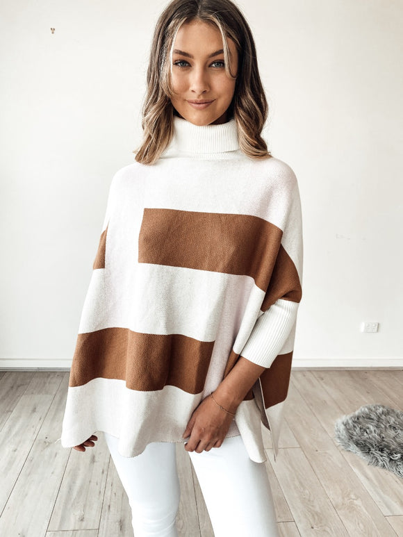 Caramel Splice Knit