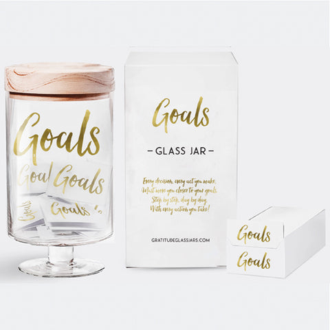 Goals Glass Jar