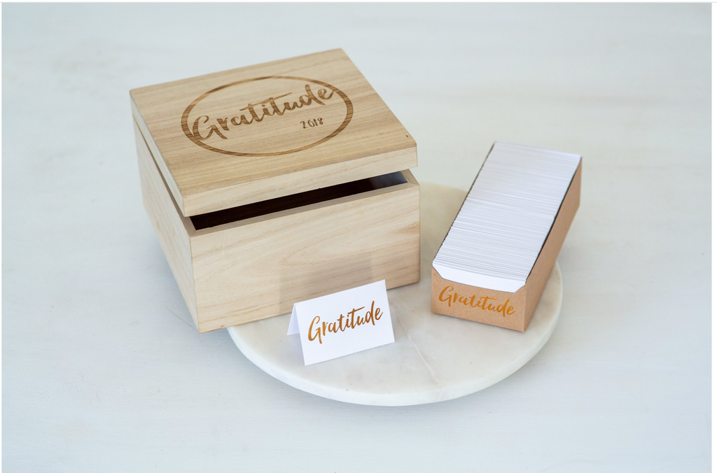 Gratitude Cards Wooden Collection Box