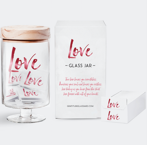 Love Glass Jar