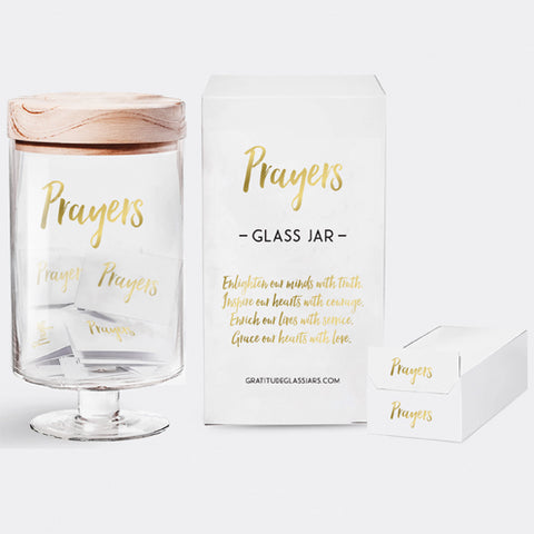 Prayers Glass Jar