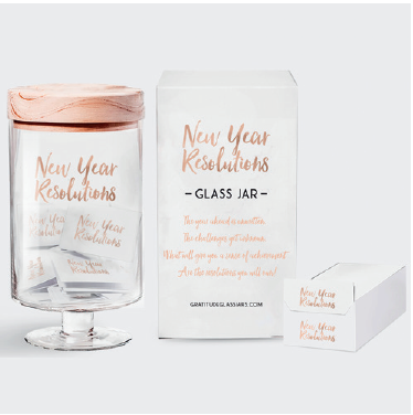 New Year's Resolutions Glass Jar
