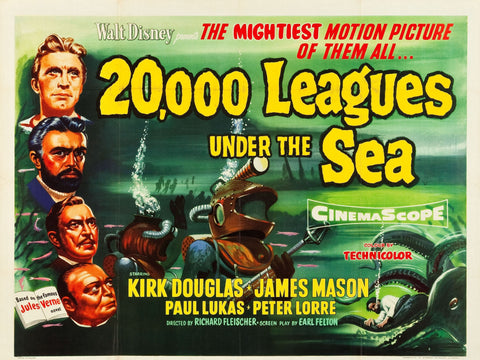 20000 Leagues Under the Sea - Vintage Movie Print