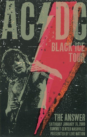 AC/DC - Black Ice Tour - Nashville 2009 - A4 Music Mini Print