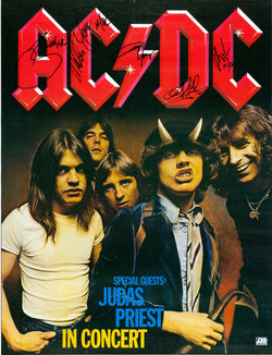 AC/DC - In Concert - A4 Music Mini Print