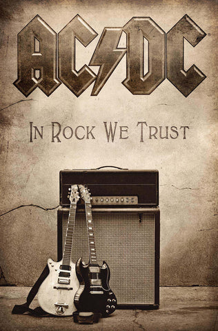 AC/DC - In Rock We Trust - Textile Flag