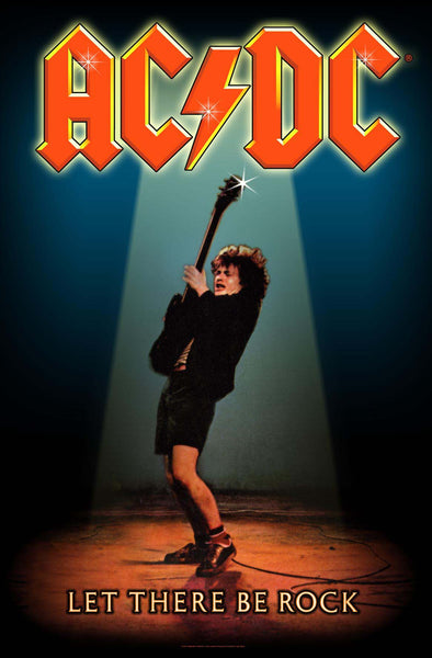 AC/DC - Let There Be Rock - Textile Flag