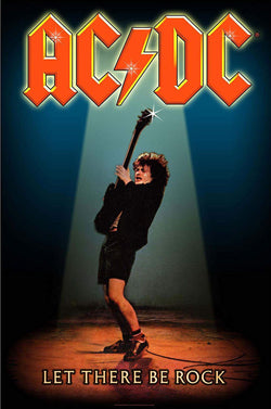 AC/DC - Let There Be Rock - A4 Music Mini Print