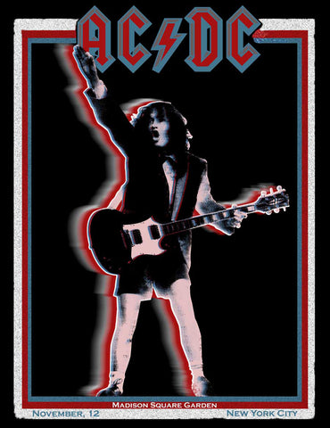 AC/DC - Madison Square Garden - A4 Music Mini Print