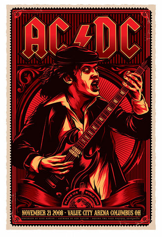 AC/DC - Ohio 2008 - A4 Music Mini Print