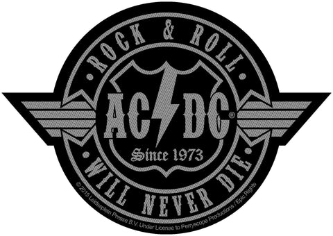 AC/DC - Rock 'n' Roll Will Never Die Cut Out - Patch