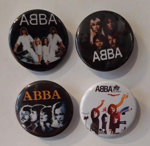 Abba - Set of 4 Badges