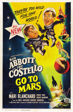 Abbott and Costello - Go to Mars - Vintage Movie Print A