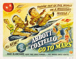 Abbott and Costello - Go to Mars - Vintage Movie Print B