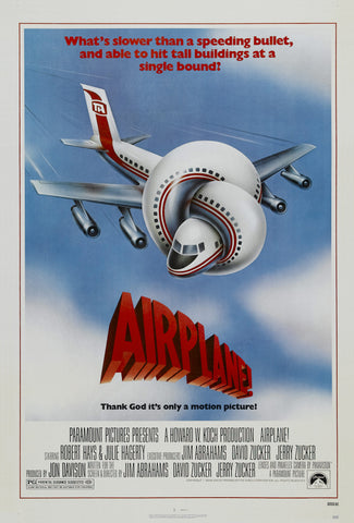 Airplane - A4 Movie Mini Print