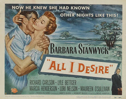 All I Desire - Barbara Stanwyck - Vintage Movie Print B