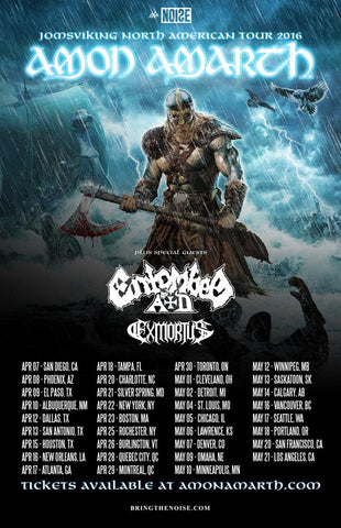Amon Amarth - North American Tour 2016 - A4 Music Mini Print