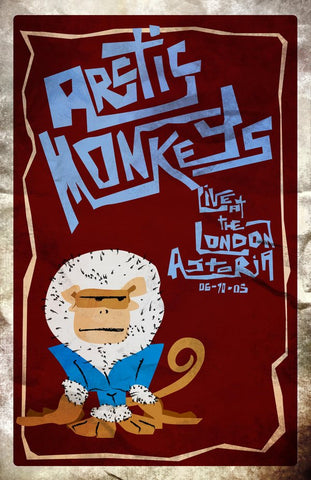 Arctic Monkeys - London Astoria 2005 - A4 Music Mini Print